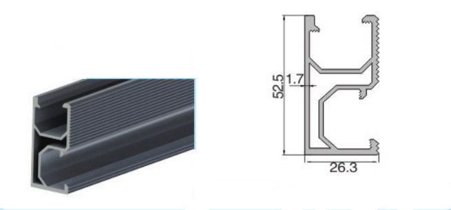 Aluminum Solar Panel Mounting Rail / Solar Mounting Systems Mounting