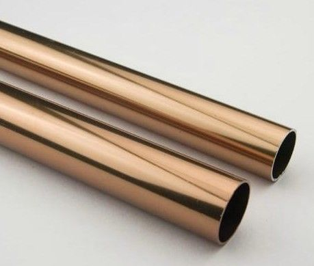 golden round anodized aluminum tube dark bronze anodized aluminum finished tubing. Black Bedroom Furniture Sets. Home Design Ideas