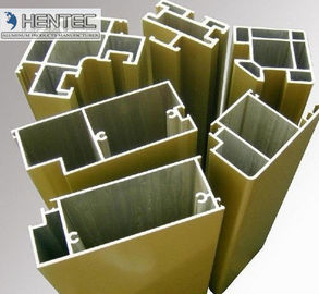 China T66 Sand Blasting Satin Aluminum Door Extrusions ROHS / SGS Approval factory