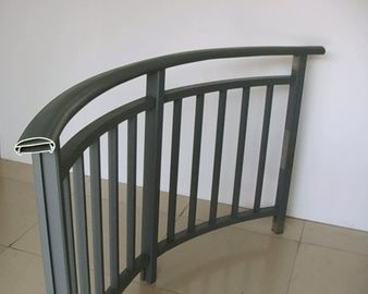 China Powder Painted Aluminum Hand Railings / Balustrade For Buildings distributor