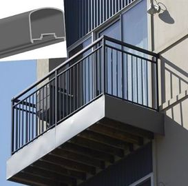 China Outdoor Aluminum Hand Railings For stairs , exterior hand railings distributor