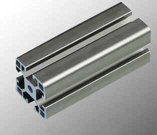 China Aluminum Assembly Line Modular Aluminium Profile System With Black / Silvery Anodized factory