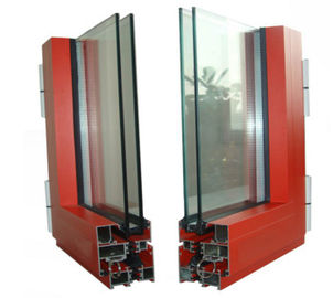 Powder Painted  profile aluminum extrusions With Finished Machining