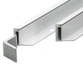 Silvery Anodized Aluminum Solar Panel Frame With Screw Joint / Corner Key Joint