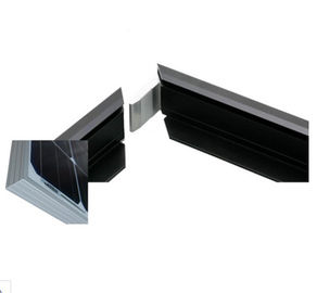 Black Anodized Aluminum Solar Panel Frame With With Cutting / Punching