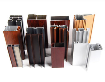 China Powder Spray Coated Construction Aluminum Profile /  Customized Sections distributor