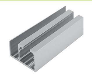 Aluminum Window Extrusion Profiles , Sliding Glass Door Channel Door Bottom Twin Track