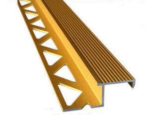 Aluminum Tile Trim / Aluminum Extrusion Profile with Golden Anodized Color
