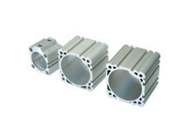 Silvery Anodized Industrial Aluminium Profile / Cylinder Shell with ISO9001: 2008 Ts16949: 2008 Certified