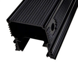 Black Anodized Aluminum Extrusions For Electronics / Electrical Cover / Electronic Enclosure