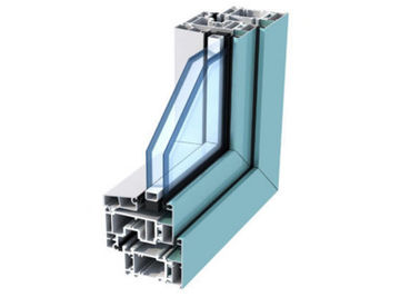 China Anodized Aluminum Door Extrusions / Double Layer Tempered Glass Aluminum Structural Framing factory