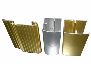 Silvery / Golden Industrial Aluminium Profile With Cutting / Punching / Drilling