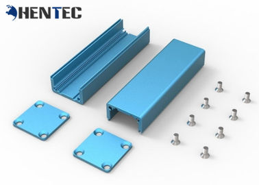 China Bright Blue Anodizing Extruded Aluminum Enclosure 6063 / 6061 / 6005 Water Proof distributor