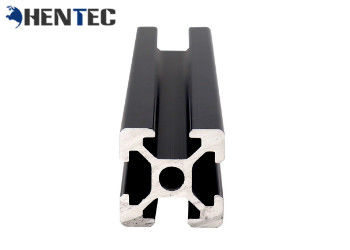 China T - Slot Industrial Aluminium Profile Extrusion Black Anodized Suface Treatment distributor