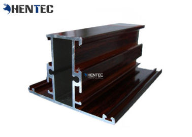 China Wooden Grain Construction Aluminium Profile Metal Extrusion Profiles Customized Sections distributor