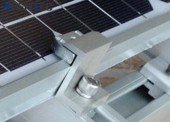 China PV End Clamp Solar Roof Mount System 6063- T5 Aluminium Extruded Profiles distributor