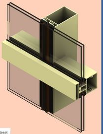 Alloy 6061 Aluminum Curtain Wall Profile Anodized For Construction