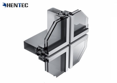 China Corrosion Proof Aluminum Curtain Wall Profile 6063- T5 Anodized / Powder Painted distributor