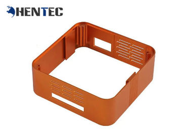 China Orange Color Customized Extruded Aluminum Pcb Enclosure With Finished Machining distributor