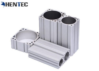 China Silver Anodized Industrial Aluminium Profiles Aluminium Cylinder Shell distributor