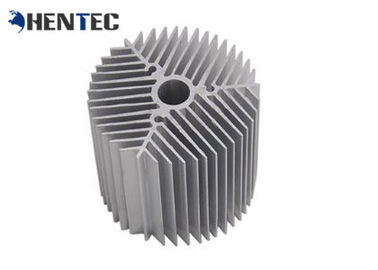China Silvery Anodized Aluminum Heatsink Extrusion Profiles For Led , Custom Design distributor