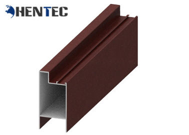 China Powder Painted Aluminum Window Extrusion Profiles / Standard Aluminum Extrusion Profiles distributor