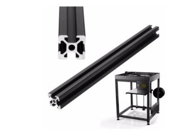China Silvery / Black Anodized T Shaped Aluminum Extrusion Profiles Powder Coated distributor