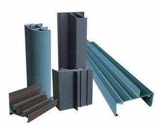 China Powder Painted Profile Aluminum Extrusions 6063-T5 / 6060-T5 For Construction factory