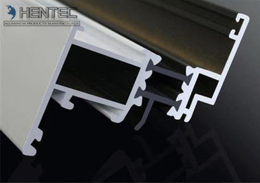 China Custom Extruded Aluminium Sliding Door Extrusions 6063 - T5 , White Powder Painting factory